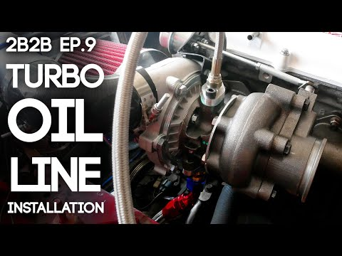 Turbo Oil Line Installation and Drilling The Oil Pan | 2Broke2Boosted Ep. 9