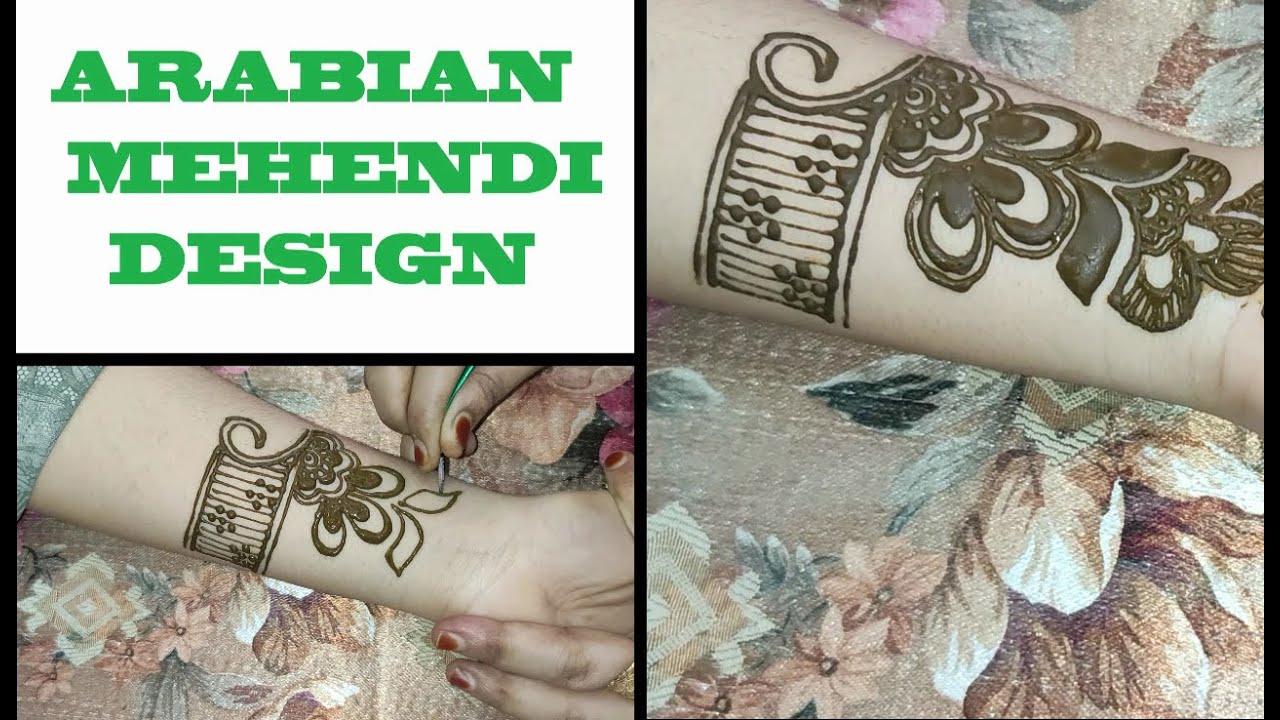 ARABIC MEHENDI DESIGN FOR FRONT HAND / EASY MEHENDI DESIGN FOR FULL HAND