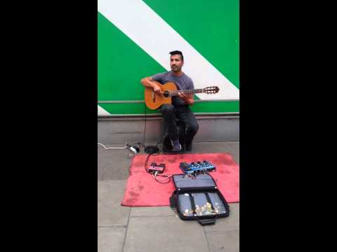 Amazing Artist playing guitar!  Oxford Street