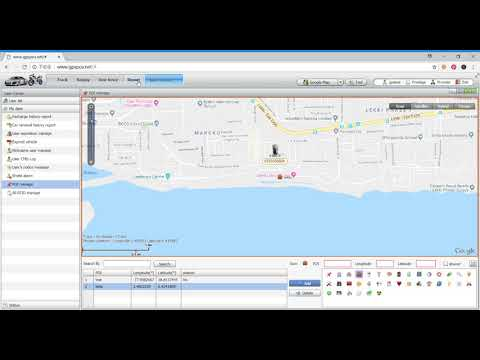 GPS Web Tracking Software POI Manage