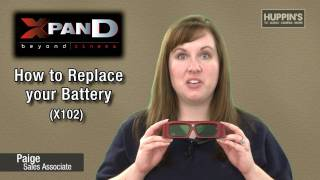 How to replace batteries in your 3D Glasses by Huppin's