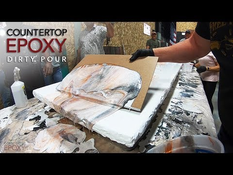 Countertop Epoxy Dirty Pour | Epoxy Workshop