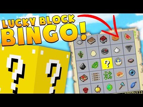 BRAND NEW Minecraft LUCKY BLOCK BINGO! | (Minecraft Modded Minigame)