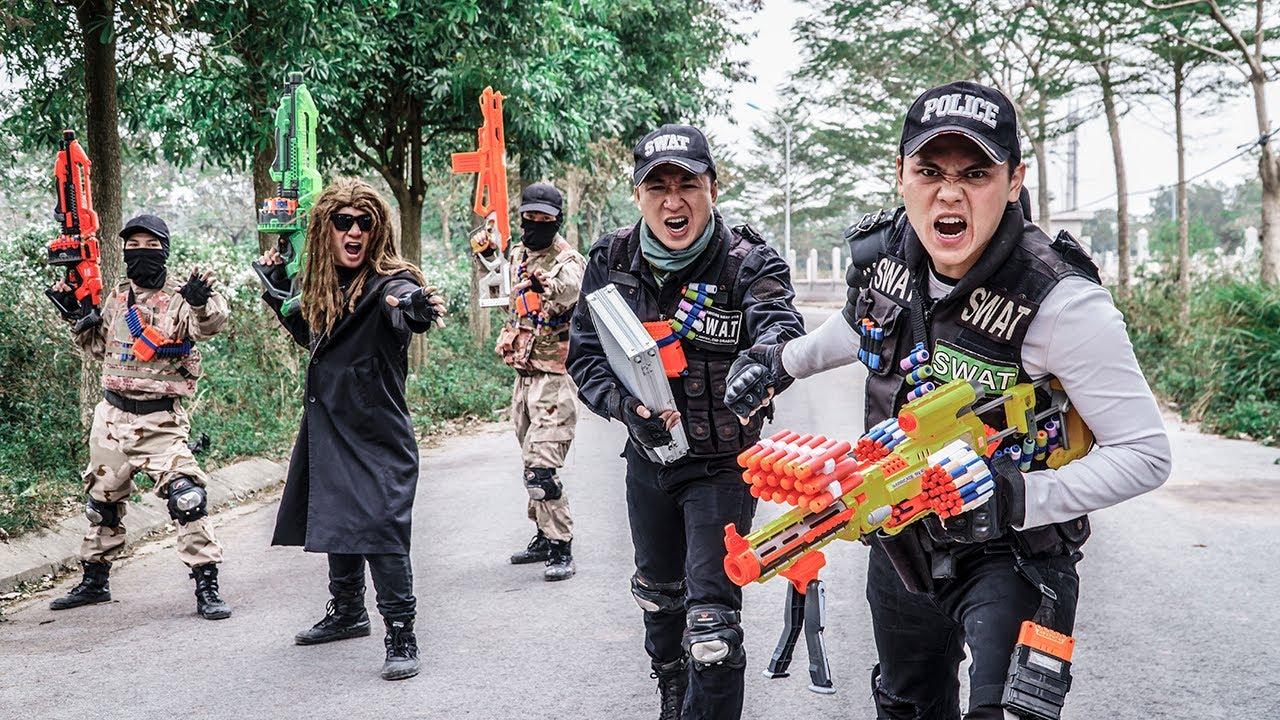 LTT Game Nerf War : Warriors SEAL X Nerf Guns Fight Group Rocket Rescue The Comrades