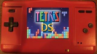 Gameboy Macro XL (GBA NDS Phat Mod) - Tetris DS Gameplay