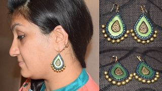 Terracotta Jewellery Making  || Terracotta Earring Making || Terracotta Earrings || WOMEN'S SPECIAL(, 2017-02-10T13:59:21.000Z)