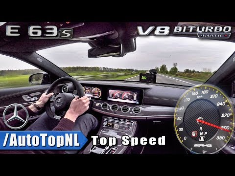 309km/h!! Mercedes AMG E63 S 4Matic+ AUTOBAHN DRIVE by AutoTopNL