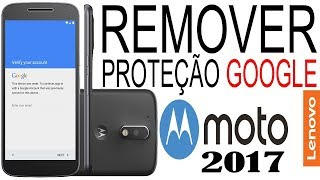 REMOVER CONTA GOOGLE MOTO G4, G4 PLUS, G5, G5 PLUS | ANDROID 7.0 / 7.1