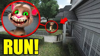 If You See Creepy TALKING TOM Outside Your House, RUN AWAY FAST!!