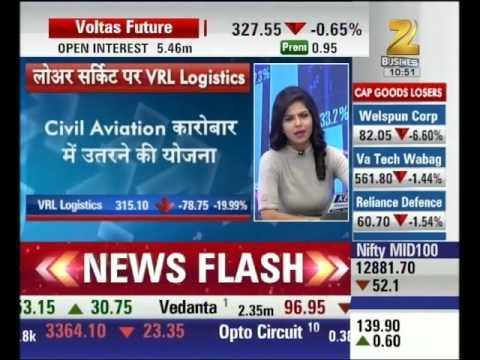 Market reaction on VRL Logistics's of entering in civil aviation