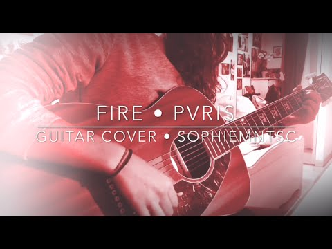 Guitar guitar cover with tabs : FIRE by PVRIS • ACOUSTIC GUITAR COVER • WITH TABS - YouTube