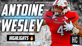 Gambar cover Antoine Wesley Highlights 🔥 Draft Sleeper 🤫 Texas Tech Red Raiders' Wide Receiverᴴᴰ