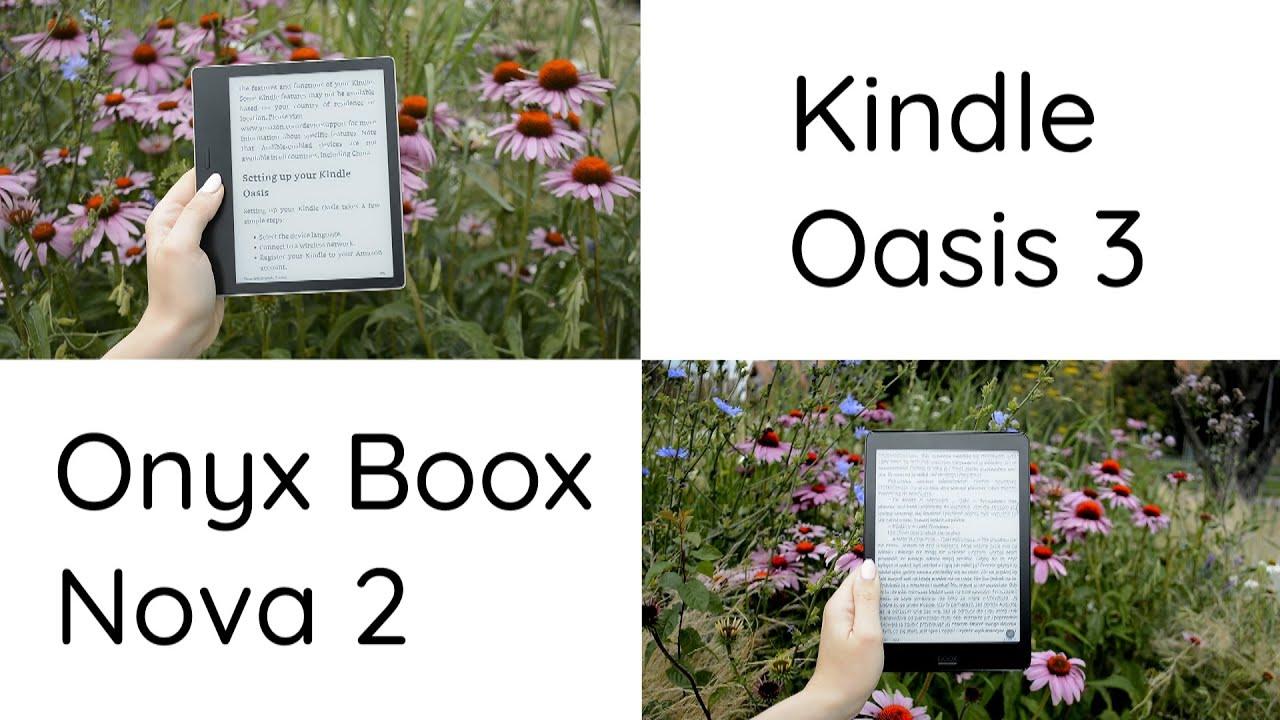 Co wybrać? Porównanie Kindle Oasis 3 i Onyx Boox Nova 2
