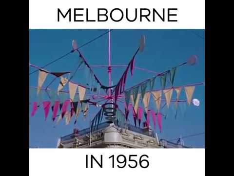 Melbourne 1956 Colour Footage