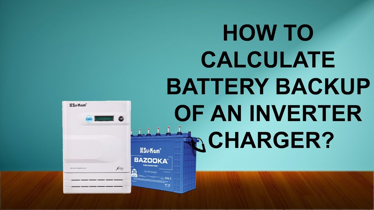 How to calculate inverter power rating and inverter battery backup.