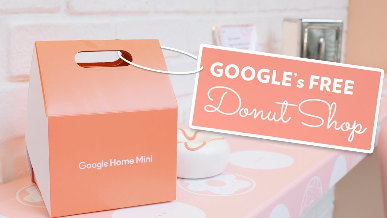 Google\'s Free Pop-up Doughnut Shop in Chicago | Google Home Mini ...