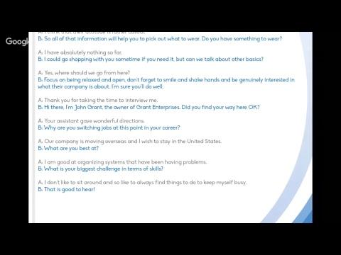 Entrevista de Emprego - Job Interview - Antes e Durante