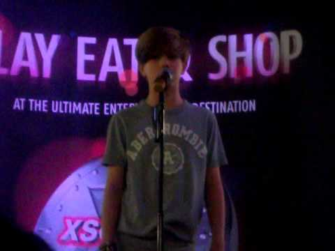 "Ronan Parke singing ""Make You Feel My Love"""