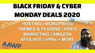 Black Friday Cyber Monday Offers 2020  Vidnami   GetResponse   CodeCanyon   Elementor