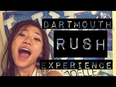 MY RUSH EXPERIENCE at Dartmouth | JustJoelle1