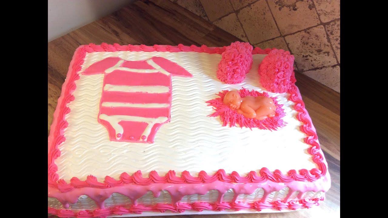 pastel o torta o bizcocho de baby shower youtube