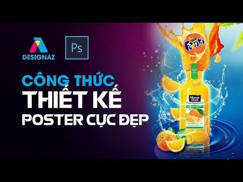 Học thiết kế  poster nước cam fanta trong photoshop, hướng dẫn cách thiết kế poster đẹp