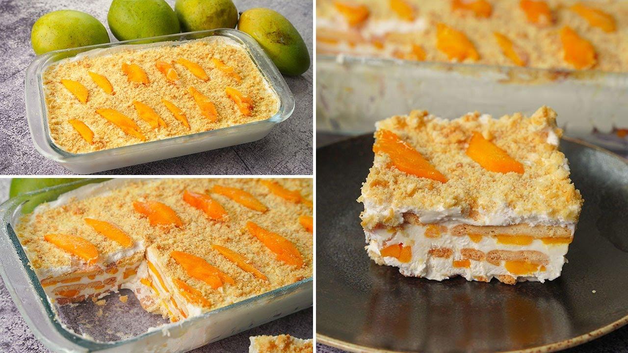 Mango Ice Cream Float   No Bake Mango Cold Dessert Box Recipe   Yummy