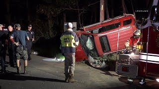 Long Island: Overturned Vehicle At Hamptons