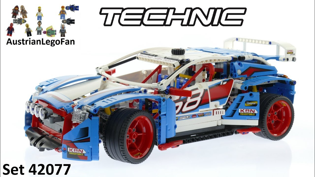 Lego Technic 42077 Rally Car Lego Speed Build Review Youtube