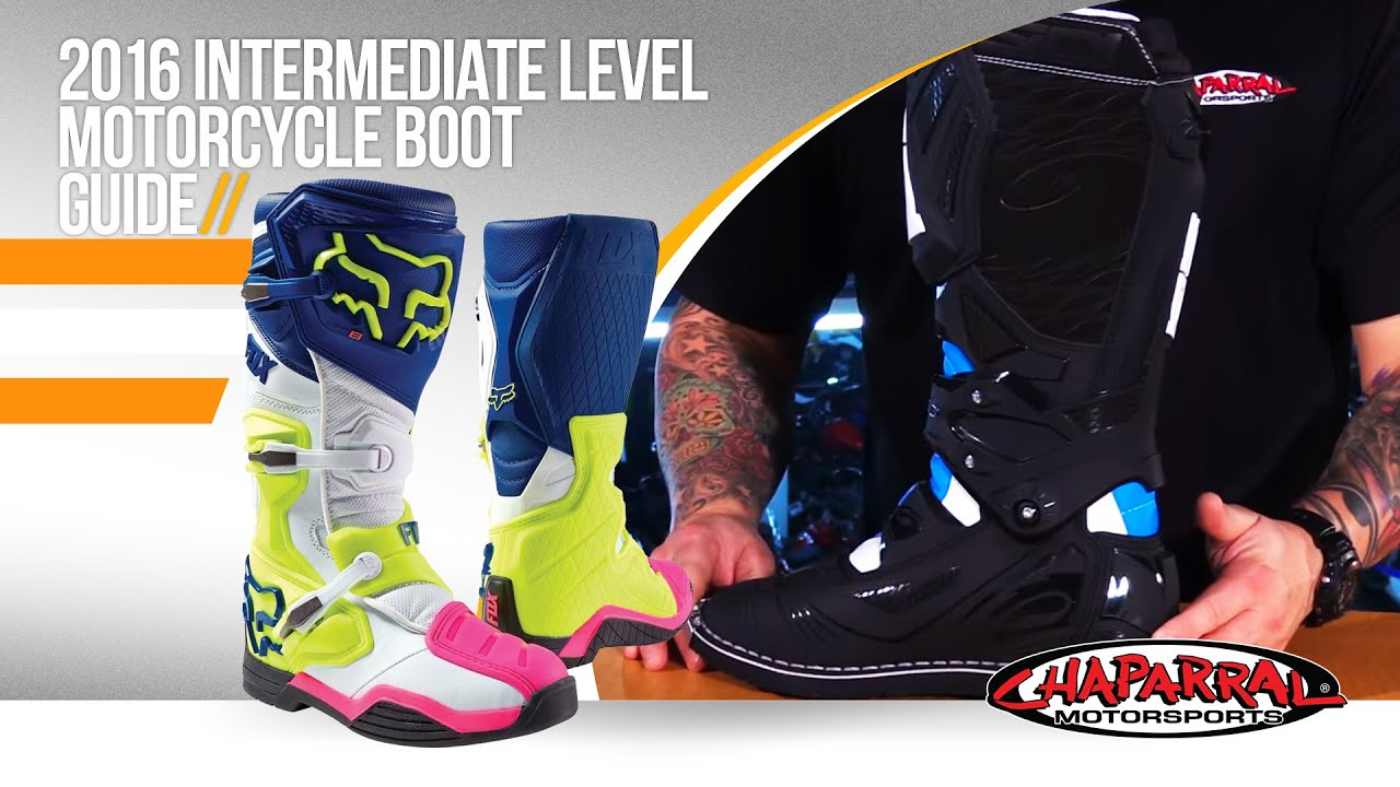 2016 Intermediate Level Motorcycle Boot Guide - ChapMoto.com - YouTube
