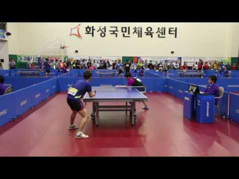 [국가대표 김정훈 탁구클럽] 2017.경기도체육대회. 서명덕 vs 신지훈