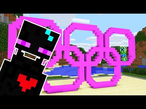 Monster School: Build Battle - Olympic Rings - Girls vs Boys - Cubic Minecraft Animation