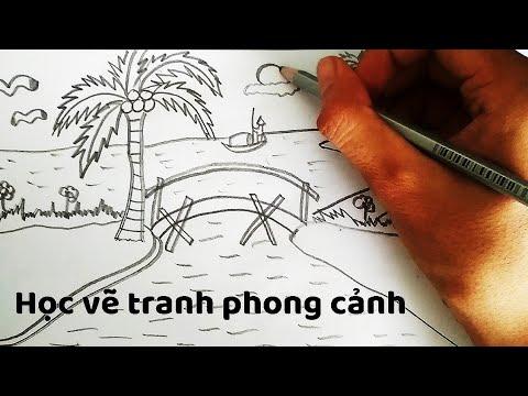 Vẽ Tranh Phong Cảnh chủ đ� Quê Hương - How to draw Landscapes ( P.2)