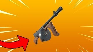 *NEW* FORTNITE TOMMY GUN SMG GAMEPLAY! (New Fortnite Drum Gun Update)