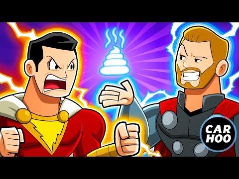 SHAZAM HATES THOR !!!!【DC Superheroes Parody】