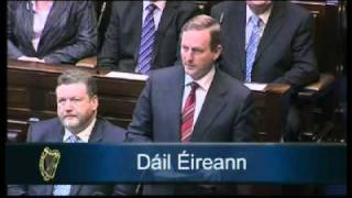Brian Cowen and Enda Kenny speeches on dissolution of 30th Dáil