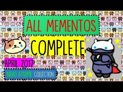 ALL MEMENTOS (+Whiteshadow) - COMPLETE CAT COLLECTION - NEKO ATSUME (except Peaches' Memento)