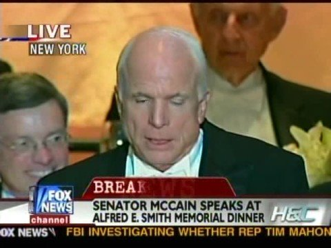 John McCain Brings Down The House - Al Smith Dinner Part 1