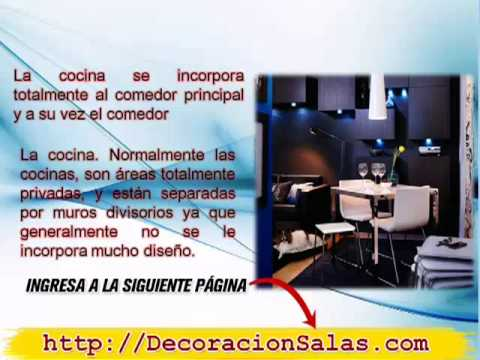 Diseño de Sala Comedor y Cocina [Decoración de Salas y Comedores ...