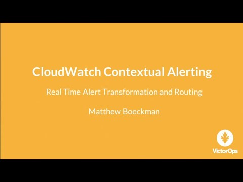 AWS re:Invent 2017: Getting the Most Out of Amazon CloudWatch Alerts: Intelligence a (DEM10)