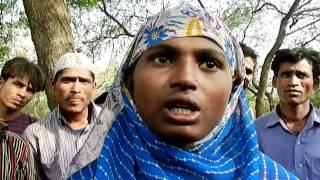A Muslim refugee girl from Myanmar