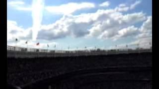 USAF Thunder Birds fly over Yankees game