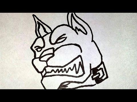 Kolay köpek tattoo çizimi