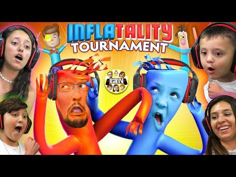 BALLOONS DANCING GAME 🎈 FGTEEV TOURNAMENT!  Inflatality Family Gaming