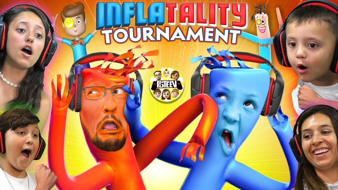 BALLOONS DANCING GAME ? FGTEEV TOURNAMENT!  Inflatality Family Gaming