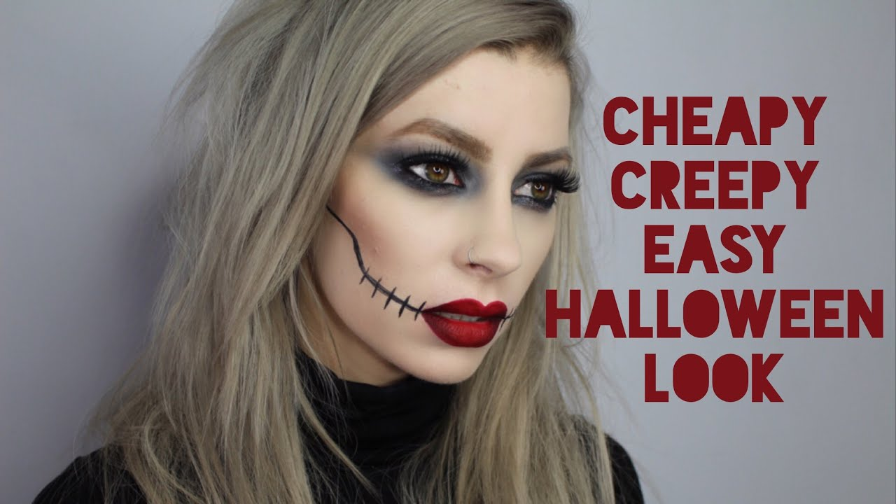 cheapy creepy super quick easy drugstore halloween makeup look youtube - Make Your Own Halloween Makeup