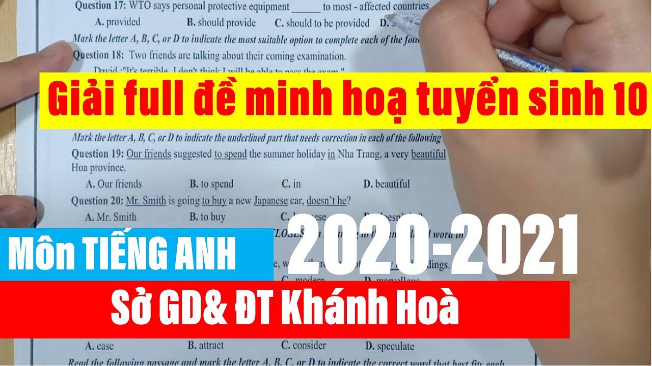 Giải full đề minh họa tuyển sinh 10 Khánh Hòa năm 2020-2021 | Học tiếng Anh cùng Ms Ly