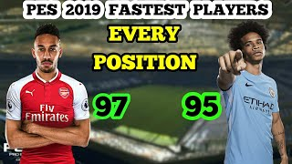 Fastest Players In Every Position In PES 2019