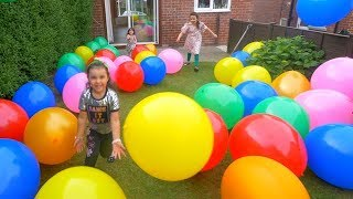 FUN WITH COLOR BALLOONS! TOYS FOR KIDS