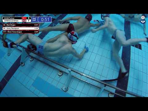 Game 206 (TUR vs GBR U24M) TURKISH - 5th CMAS Underwater Hockey Age Group Worlds - Sheffield, UK
